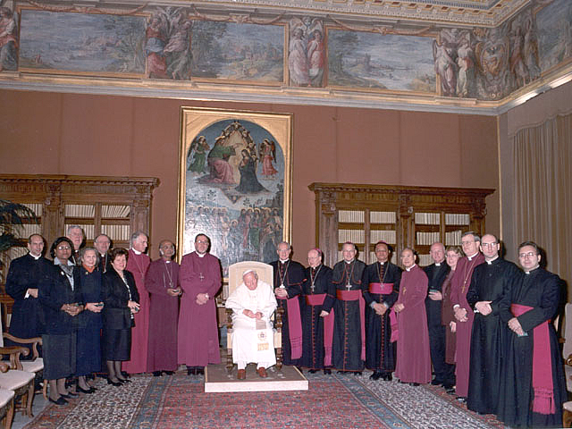 The first meeting of IARCCUM in 2001 with Pope John Paul II