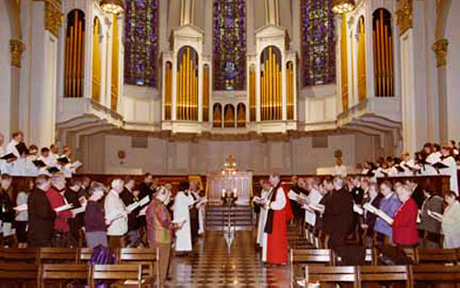 ARCIC II in Seattle, February 2004. Celebration of Vespers for the Feast of the Purification of the Blessed Virgin Mary (the Presentation of Christ in the Temple) in St James' Cathedral, Seattle