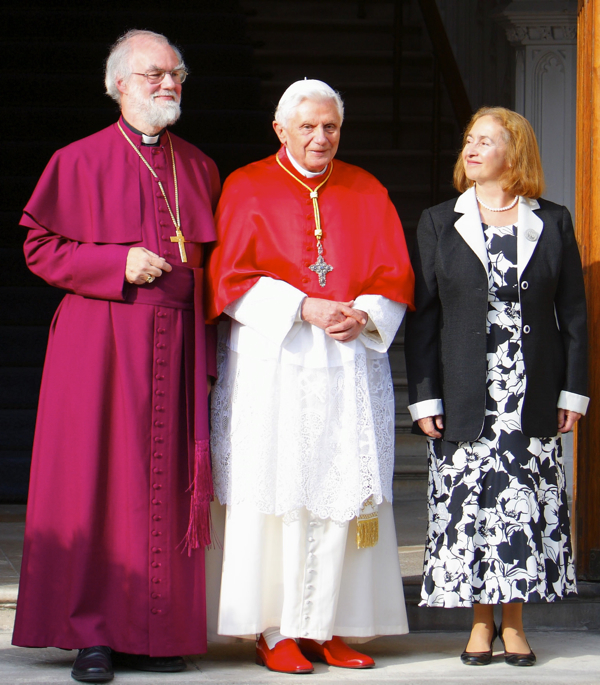Pope Benedict XVI, Archbishop Rowan Williams and Jane Williams