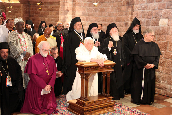 Archbishop Rowan Williams and Pope Benedict XVI attend Day of Reflection with ecumenical guests (2010-9-18)