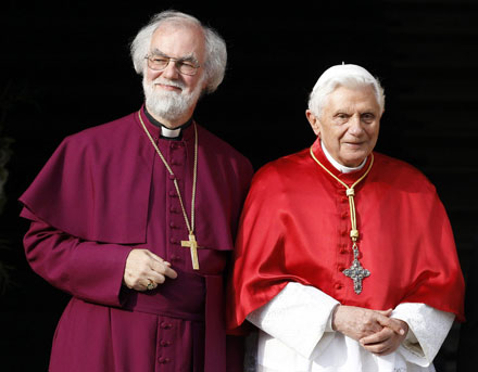 Pope Benedict XVI and Archbishop Rowan Williams