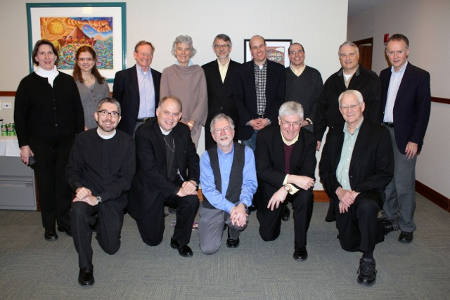 Members of the Anglican Roman Catholic Theological Dialogue at the Episcopal Church Center in New York in 2012.