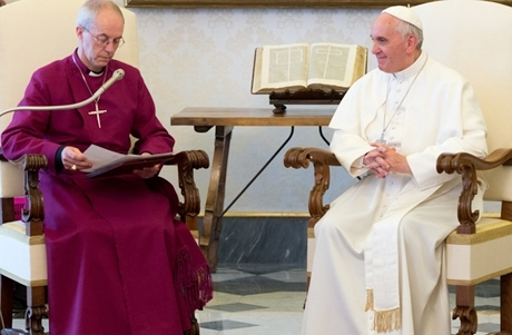 Archbishop of Canterbury, Justin Welby meeting with Pope Francis in 2013