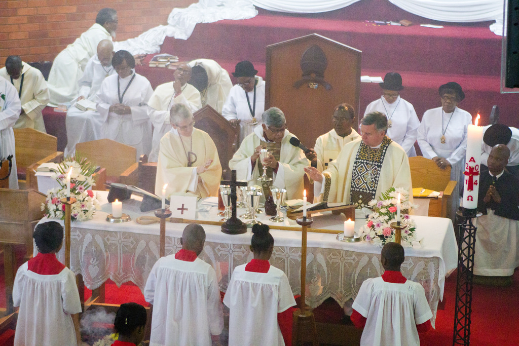 Celebration of the Anglican liturgy of the Eucharist during the ARCIC III meeting in Durban, South Africa