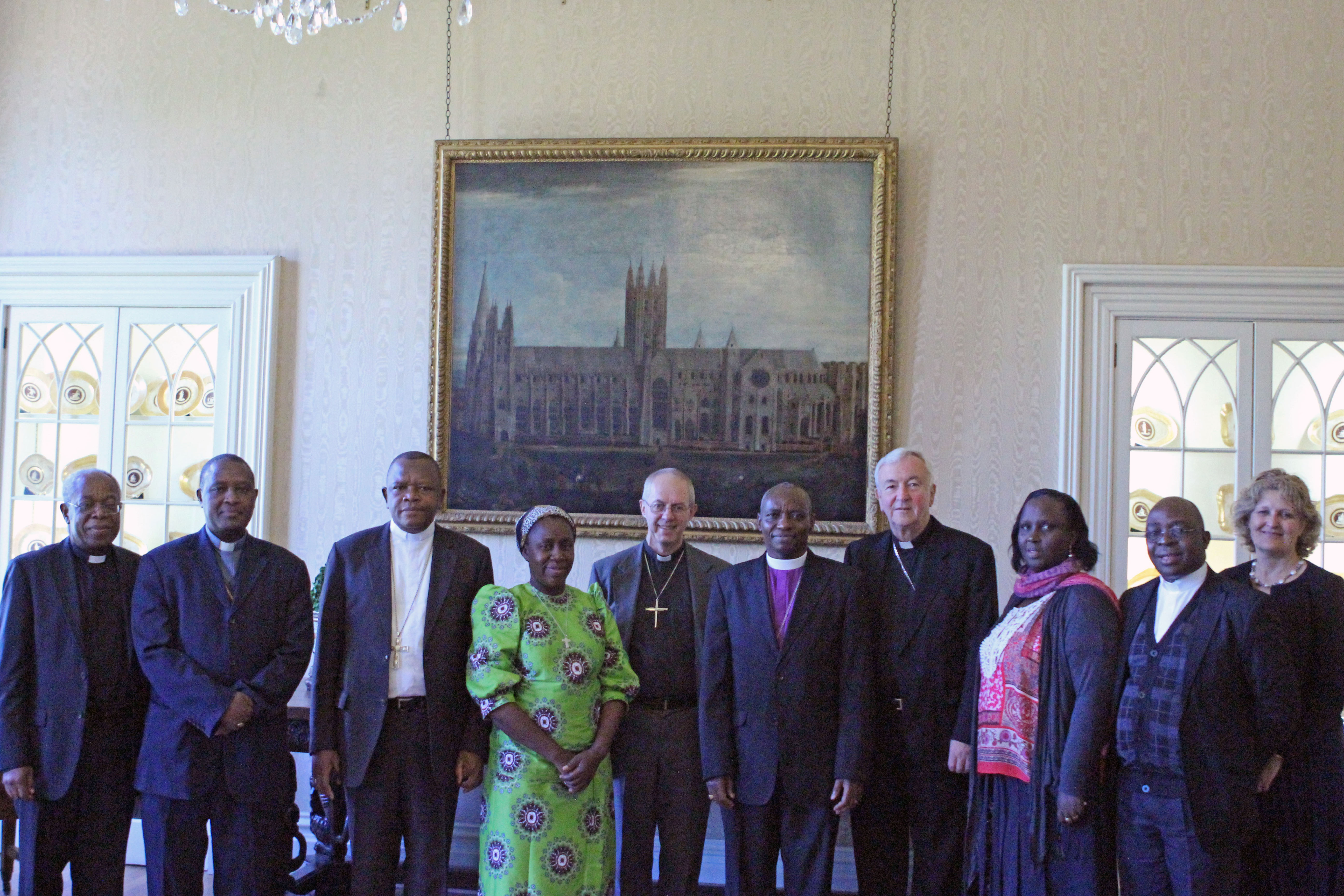 Archbishop of Canterbury Justin Welby and Cardinal Vincent Nichols of Westminster met with Anglican and Roman Catholic leaders from the Democratic Republic of Congo, Burundi, and Rwanda at Lambeth Palace