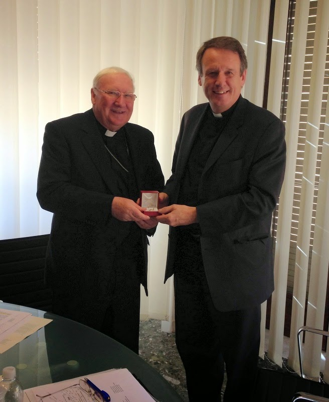 Bishop Farrell presents an Episcopal Ring to the Bishop-Designate of Limerick and Killaloe, Canon Kenneth Kearon
