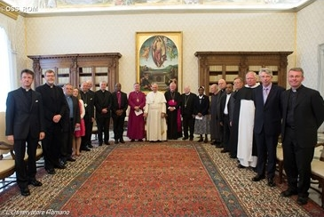 Pope Francis met with members of the Anglican-Roman Catholic International Commission
