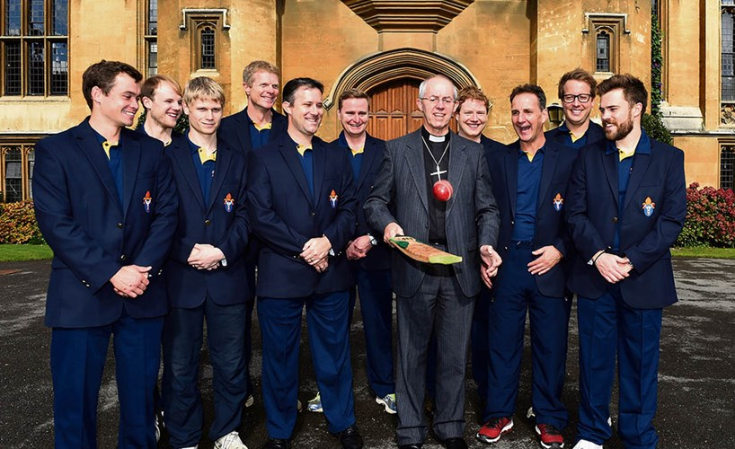 The Archbishop of Canterbury, Justin Welby, and the Archbishop's XI