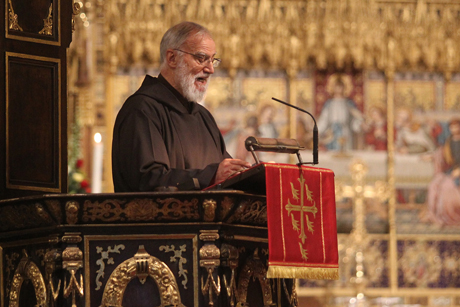 Father Raniero Cantalamessa delivers his sermon in Westminster Abbey during a Eucharist to mark the inauguration of the 10th five-year-term of the Church of England's General Synod. Photo Credit: Picture Partnership/Westminster Abbey