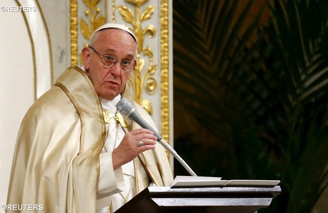 Pope Francis gave the homily at the Ecumenical Vespers for the Week of Prayer for Christian Unity