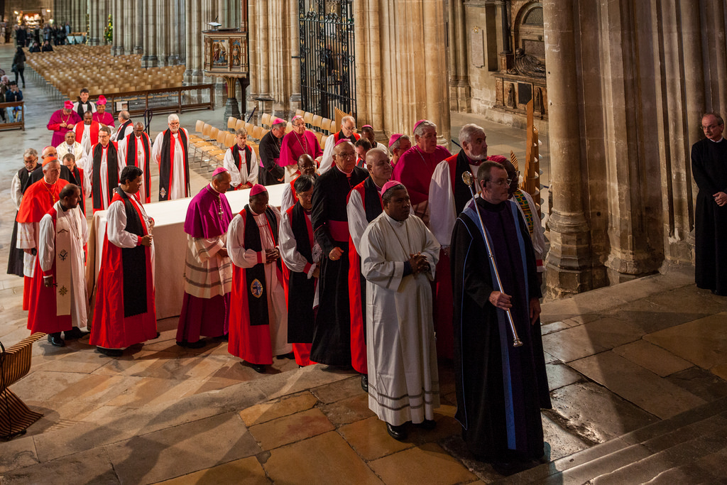 Procession at the Opening Vespers, 30 September 2016, at the beginning of the IARCCUM gathering at Canterbury Cathedral
