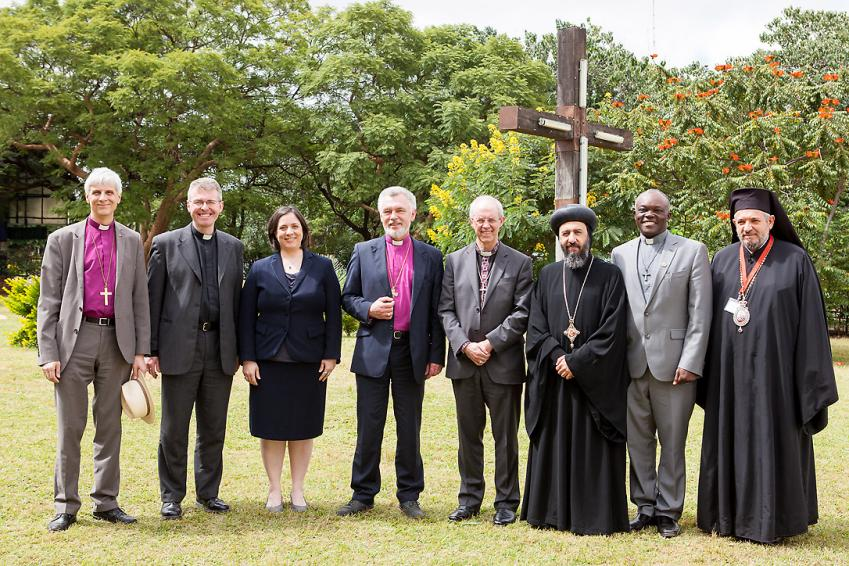 The ecumenical guests with Archbishop Justin Welby at the ACC meeting in Lusaka