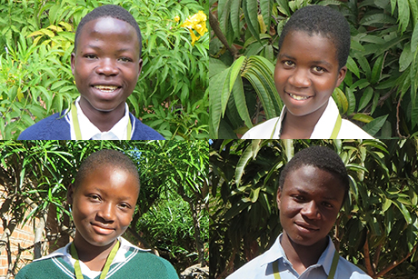 Four of the recipients of the St Timothy Scholarship Programme in Malawi