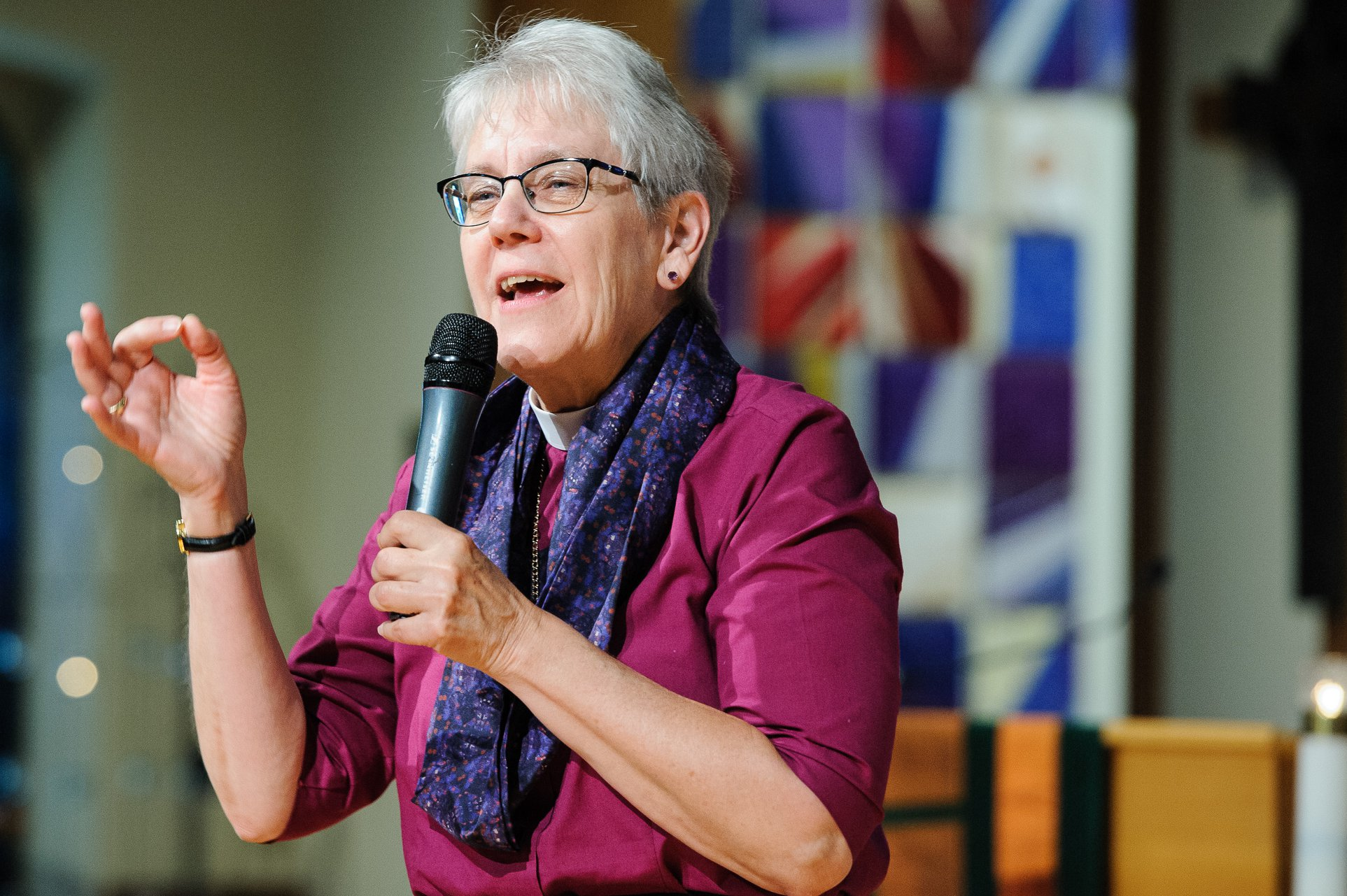 Bishop Linda Nicholls of the Diocese of Huron was elected as the Primate of the Anglican Church of Canada at the General Synod in Vancouver on July 13, 2019